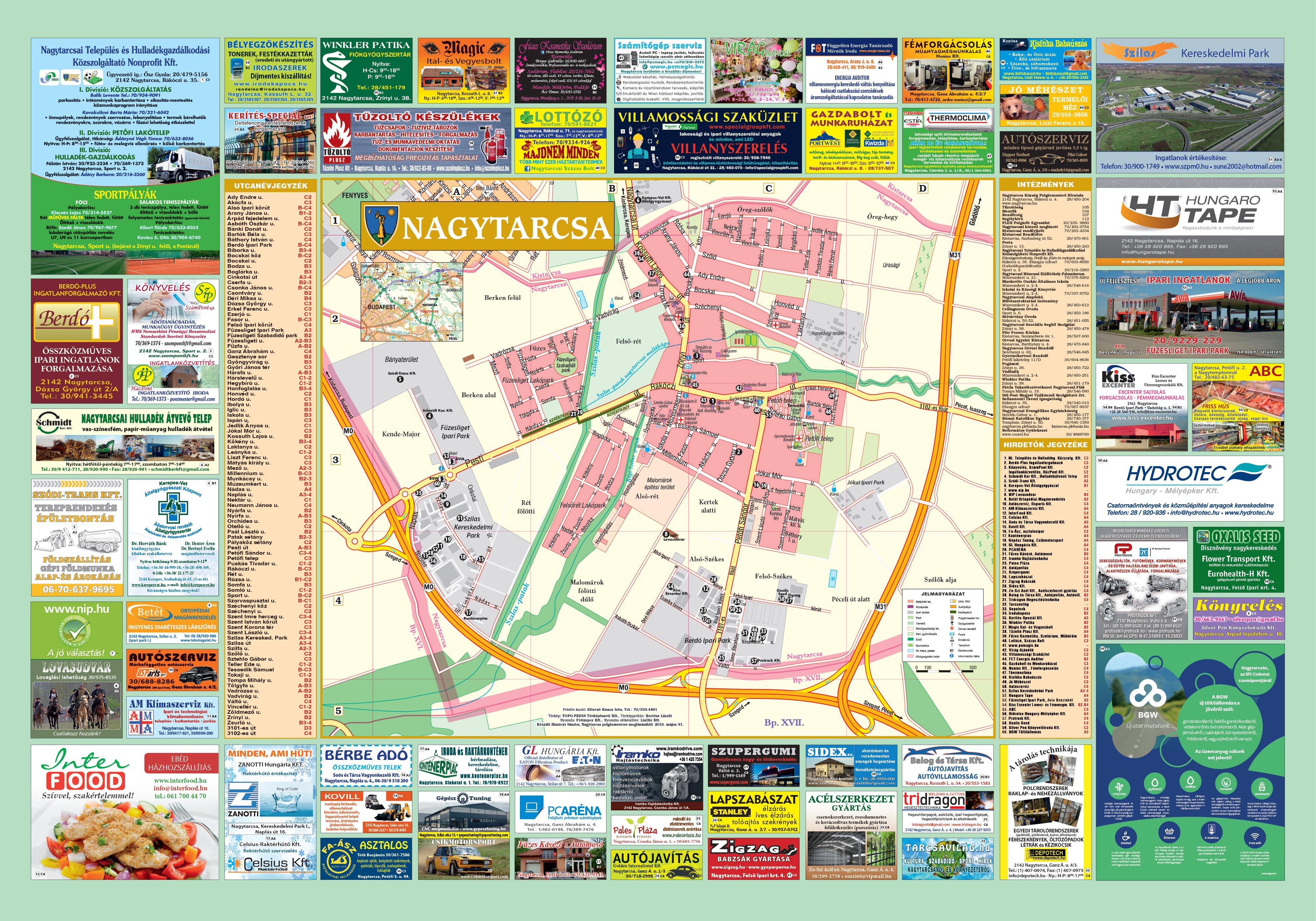 nagytarcsa térkép Nagytarcsa község hivatalos oldala: Térképek nagytarcsa térkép